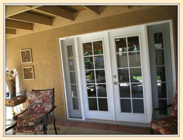 An Enormous 8 Foot Wide French Door That Leads To The Patio Is One Of The